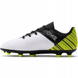 Buty piłkarskie Puma One 5.4 Fg Ag Junior żółto-biało-czarne 105660 03 żółte wielokolorowe 2