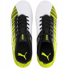 Buty piłkarskie Puma One 5.4 Fg Ag żółto-biało-czarne 105605 03 żółte żółte 1