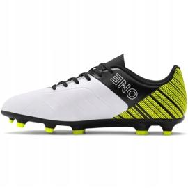 Buty piłkarskie Puma One 5.4 Fg Ag żółto-biało-czarne 105605 03 żółte żółte 2