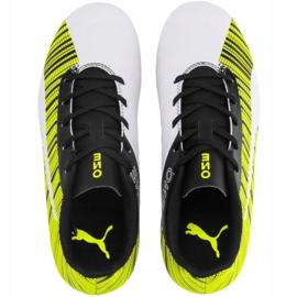 Buty piłkarskie Puma One 5.4 Fg Ag Junior żółto-biało-czarne 105660 03 żółte wielokolorowe 1
