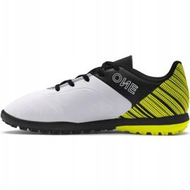 Buty piłkarskie Puma One 5.4 Tt Junior żółto-biało-czarne 105662 03 wielokolorowe żółte 2