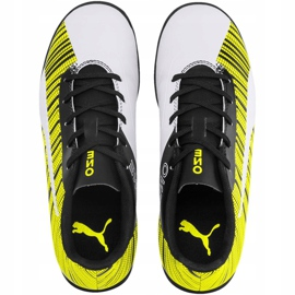 Buty piłkarskie Puma One 5.4 Tt Junior żółto-biało-czarne 105662 03 wielokolorowe żółte 1