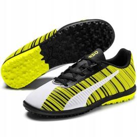 Buty piłkarskie Puma One 5.4 Tt Junior żółto-biało-czarne 105662 03 wielokolorowe żółte 3