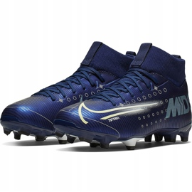 Buty piłkarskie Nike Mercurial Superfly 7 Academy Mds FG/MG Junior BQ5409 401 granatowe granatowe 3