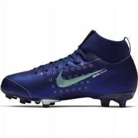 Buty piłkarskie Nike Mercurial Superfly 7 Academy Mds FG/MG Junior BQ5409 401 granatowe granatowe 2