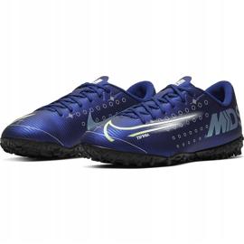 Buty piłkarskie Nike Mercurial Vapor 13 Academy Mds Tf Junior CJ1178 401 granatowe granatowe 3
