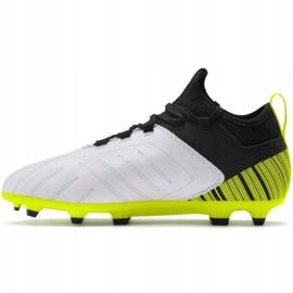 Buty piłkarskie Puma One 5.3 Fg Ag Junior żółto-czarno-białe 105657 03 żółte żółty,biały,czarny 2