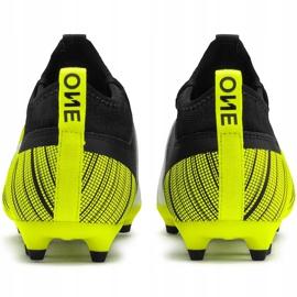 Buty piłkarskie Puma One 5.3 Fg Ag Junior żółto-czarno-białe 105657 03 żółte żółty,biały,czarny 5