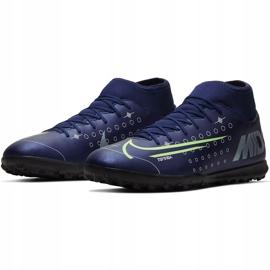Buty piłkarskie Nike Mercurial Superfly 7 Club Mds Tf BQ5437 401 granatowe granatowe 3
