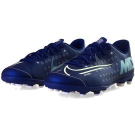 Buty piłkarskie Nike Mercurial Vapor 13 Club Mds FG/MG Junior CJ1148 401 granatowe granatowe 3