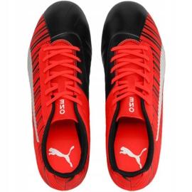 Buty piłkarskie Puma One 5.4 Fg Ag czerwono-czarne 105605 01 czerwone wielokolorowe 1