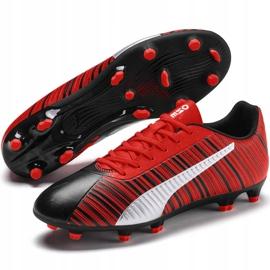 Buty piłkarskie Puma One 5.4 Fg Ag czerwono-czarne 105605 01 czerwone wielokolorowe 3