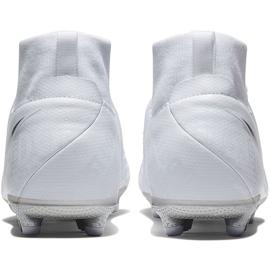 Buty piłkarskie Nike Phantom Vsn Academy Df FG/MG Jr AO3287 100 białe białe 4