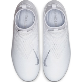 Buty piłkarskie Nike Phantom Vsn Academy Df FG/MG Jr AO3287 100 białe białe 1