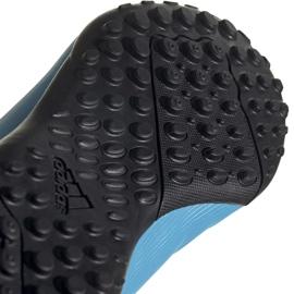 Buty piłkarskie adidas X 19.4 H&L Tf Junior niebieskie EF9126 5