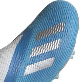 Buty piłkarskie adidas X 19.3 Ll Fg Junior niebieskie EF9114 niebieski,biały,srebrny 4