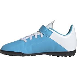 Buty piłkarskie adidas X 19.4 H&L Tf Junior niebieskie EF9126 1