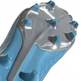 Buty piłkarskie adidas X 19.3 Ll Fg Junior niebieskie EF9114 niebieski,biały,srebrny 5