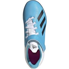 Buty piłkarskie adidas X 19.4 H&L Tf Junior niebieskie EF9126 2
