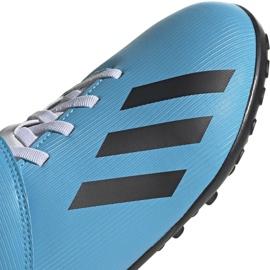 Buty piłkarskie adidas X 19.4 H&L Tf Junior niebieskie EF9126 4