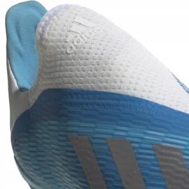 Buty piłkarskie adidas X 19.3 Ll Fg Junior niebieskie EF9114 niebieski,biały,srebrny 3