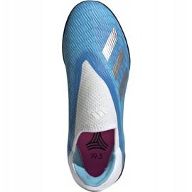 Buty piłkarskie adidas X 19.3 Ll Tf Junior niebieskie EF9123 1