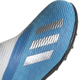 Buty piłkarskie adidas X 19.3 Ll Tf Junior niebieskie EF9123 3