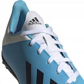 Buty piłkarskie adidas X 19.4 Tf Junior niebiesko białe F35347 wielokolorowe niebieskie 2