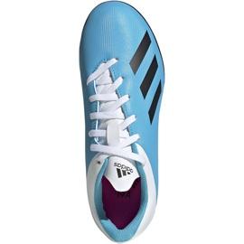 Buty piłkarskie adidas X 19.4 Tf Junior niebiesko białe F35347 wielokolorowe niebieskie 1