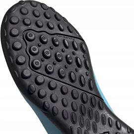 Buty piłkarskie adidas X 19.4 Tf Junior niebiesko białe F35347 wielokolorowe niebieskie 4