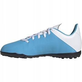Buty piłkarskie adidas X 19.4 Tf Junior niebiesko białe F35347 wielokolorowe niebieskie 3