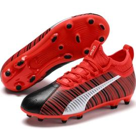 Buty piłkarskie Puma One 5.3 Fg Ag Junior czerwono czarne 105657 01 czerwone wielokolorowe 3