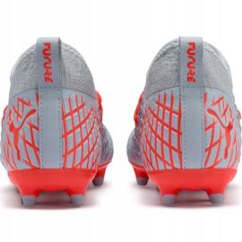 Buty piłkarskie Puma Future 4.3 Netfit Fg Ag Junior srebrno-czerwone 105693 01 szare wielokolorowe 4