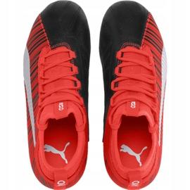 Buty piłkarskie Puma One 5.3 Fg Ag Junior czerwono czarne 105657 01 czerwone wielokolorowe 1