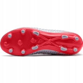 Buty piłkarskie Puma Future 4.3 Netfit Fg Ag Junior srebrno-czerwone 105693 01 szare wielokolorowe 5