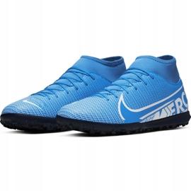 Buty piłkarskie Nike Mercurial Superfly 7 Club Tf AT7980 414 niebieskie wielokolorowe 3