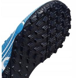 Buty piłkarskie Nike Mercurial Superfly 7 Academy Tf Junior AT8143 414 niebieskie wielokolorowe 5