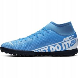 Buty piłkarskie Nike Mercurial Superfly 7 Club Tf AT7980 414 niebieskie wielokolorowe 2