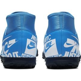 Buty piłkarskie Nike Mercurial Superfly 7 Club Tf AT7980 414 niebieskie wielokolorowe 4