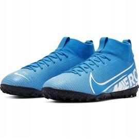 Buty piłkarskie Nike Mercurial Superfly 7 Academy Tf Junior AT8143 414 niebieskie wielokolorowe 3