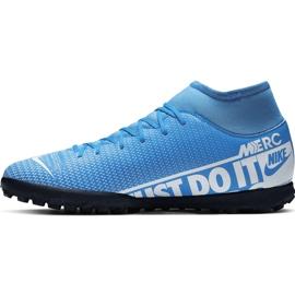 Buty piłkarskie Nike Mercurial Superfly 7 Club Tf Junior AT8156 414 niebieskie 2