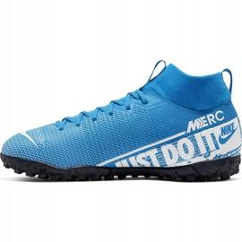 Buty piłkarskie Nike Mercurial Superfly 7 Academy Tf Junior AT8143 414 niebieskie wielokolorowe 2