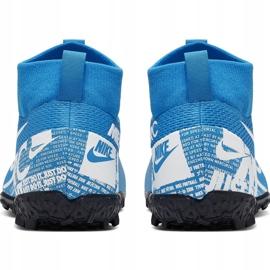 Buty piłkarskie Nike Mercurial Superfly 7 Academy Tf Junior AT8143 414 niebieskie wielokolorowe 4