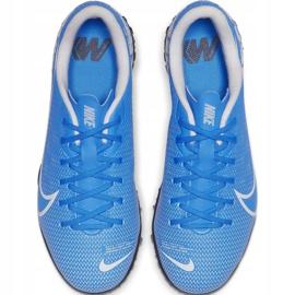 Buty piłkarskie Nike Mercurial Vapor 13 Academy Tf Junior AT8145 414 niebieskie niebieskie 1