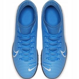 Buty piłkarskie Nike Mercurial Superfly 7 Club Tf Junior AT8156 414 niebieskie 1