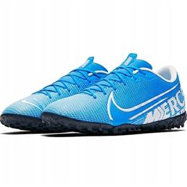Buty piłkarskie Nike Mercurial Vapor 13 Academy Tf AT7996 414 niebieskie wielokolorowe 4