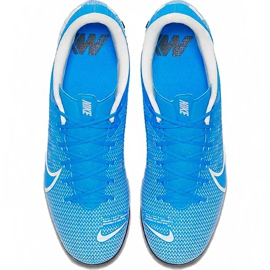Buty piłkarskie Nike Mercurial Vapor 13 Academy Tf AT7996 414 niebieskie wielokolorowe 1