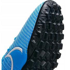 Buty piłkarskie Nike Mercurial Vapor 13 Academy Tf AT7996 414 niebieskie wielokolorowe 3