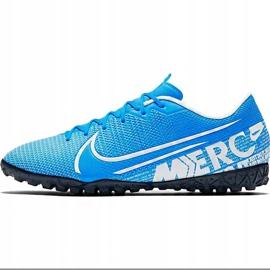 Buty piłkarskie Nike Mercurial Vapor 13 Academy Tf AT7996 414 niebieskie wielokolorowe 2