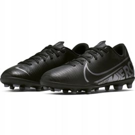 Buty piłkarskie Nike Mercurial Vapor 13 Club FG/MG Junior AT8161 001 czarne czarne 3